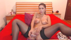 Black Stockings Plus Dildo Brutal Combo