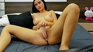 Sweet Wet Pussy And A Huge Dildo