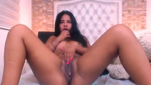 Moaning Latina Loves Fucking With Her Dildo