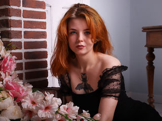 18 petite white female fire red hair blue eyes MishelBrem chat room